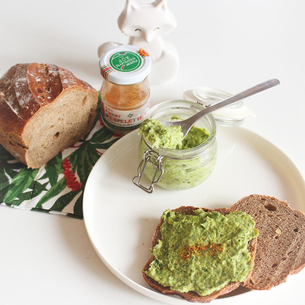 tartinade vert poireau Loïs Clément Tacher Dieteticienne Nutritionniste Biarritz Anglet Bayonne Bidart.JPG