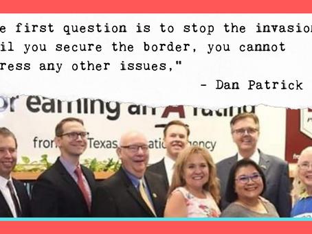 SAISD Leaders All Smiles At Photo-op With Anti-Immigrant, Anti-LGBTQ Dan Patrick.