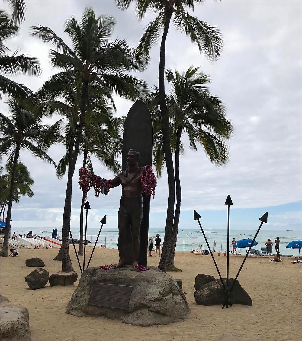 Relaxing Spot by Duke Paoa Kahanamoku Statue, Hawaii