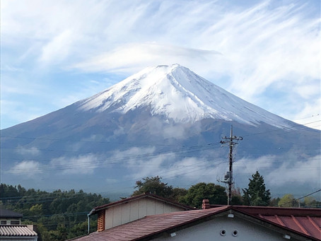 富士山に癒されて