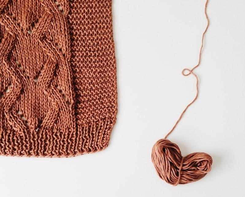 knitting heart gift scarf yarn