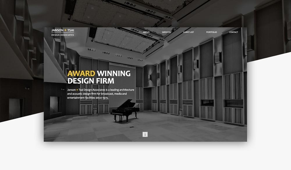 Janson + Tsai acoustic architecture website design and development