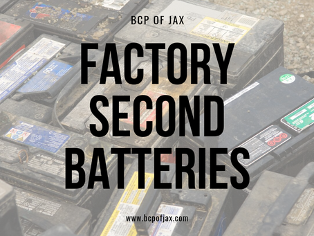 Check Out Our Factory Second Batteries!