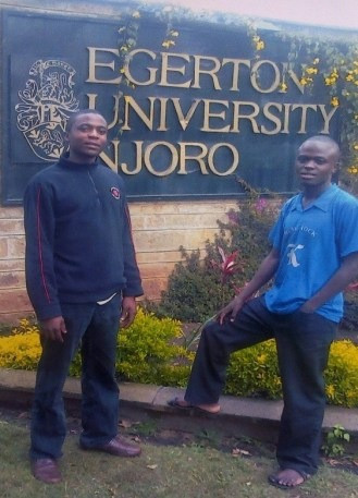 Me, at the university with my great friend, Wasilwa.