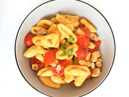 Cavatelli with Tuna and sugar-drops tomatoes