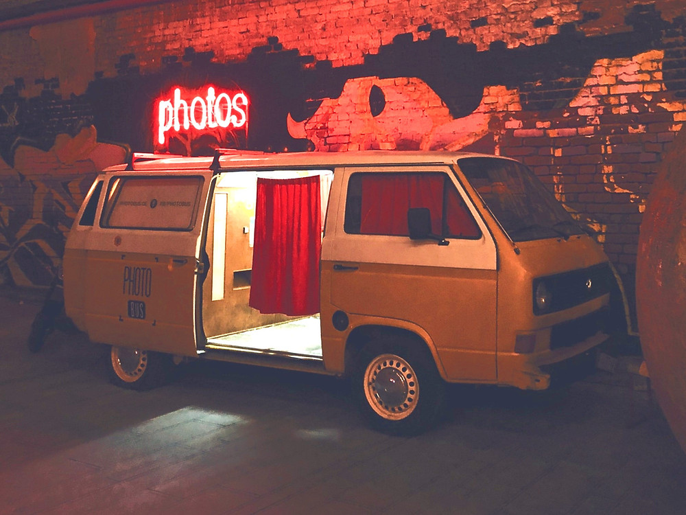 Wedding photo booth kombi van