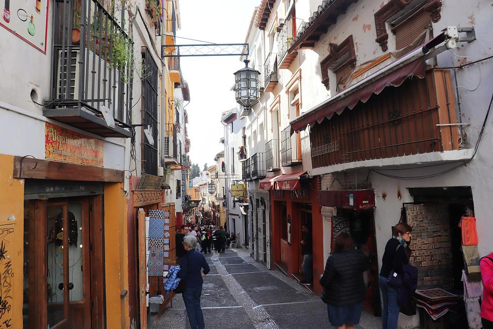 Realejo old Jewish Quarter in Granada Spain