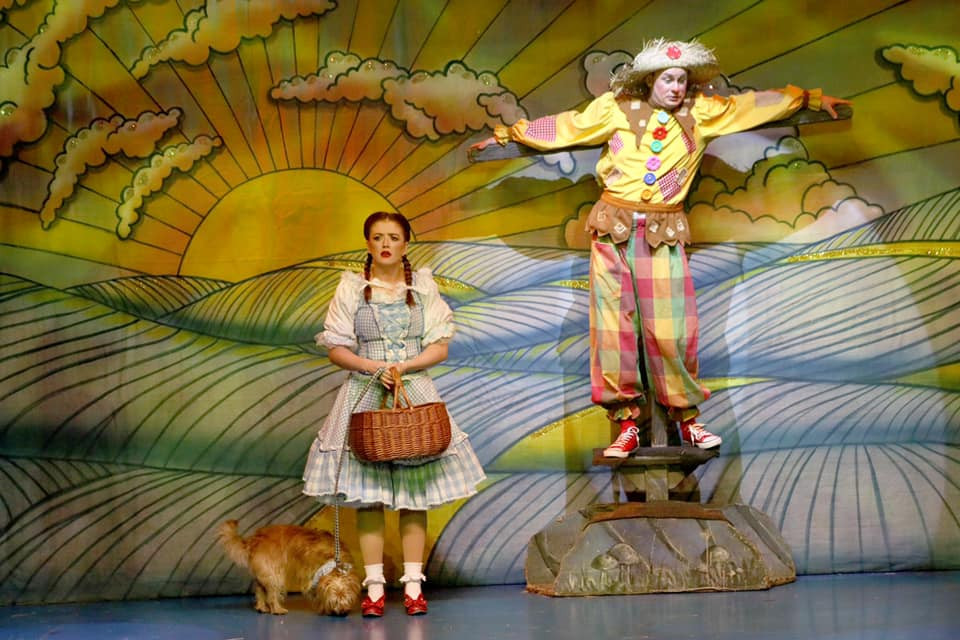 Mia Molloy as Dorothy and Reece Sibbald as the Scarecrow in The Wizard of Oz. All pics: company