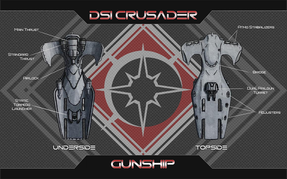 The Crusader is the first Gunship design to come hot out of concepts.