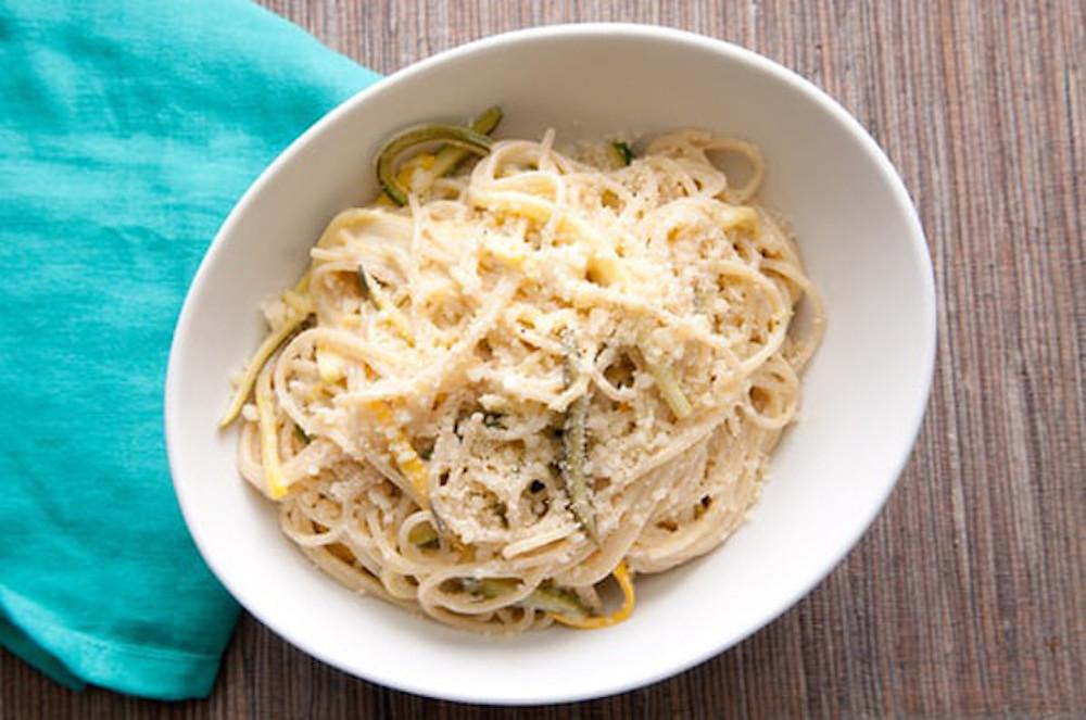 Zdravý oběd ze špaget recept