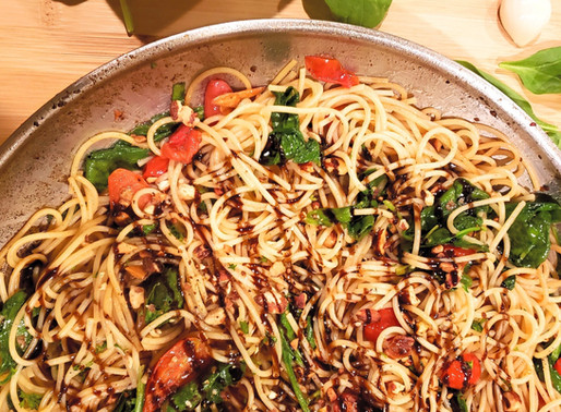 Spinach and Tomato Pasta Toss