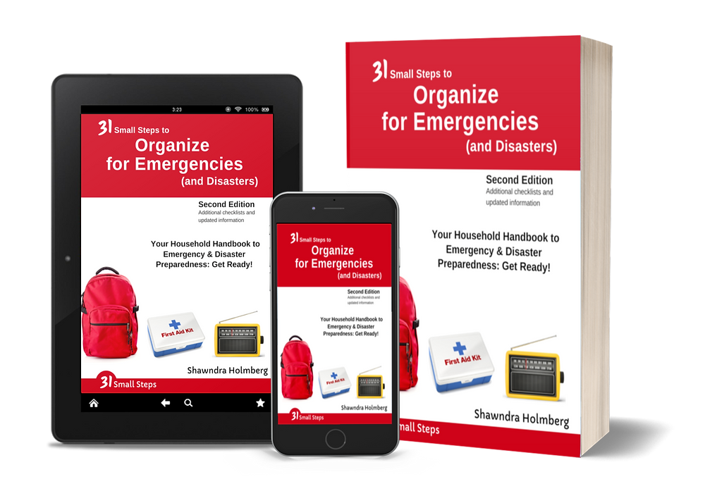 My book - 31 Small Steps to Organize for Emergencies (and Disasters)