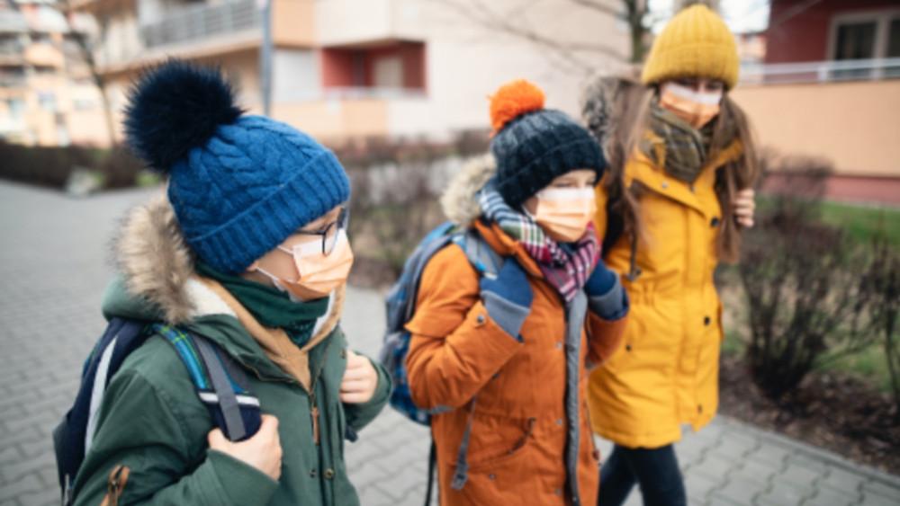 Children walking during Covid Pandemic