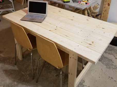 DIY Simple Dining Rom Table: Woodworking with the girls