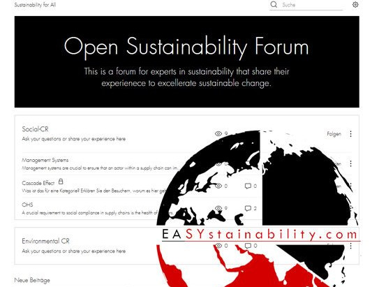 NEW: Forum on EASYstainability.com
