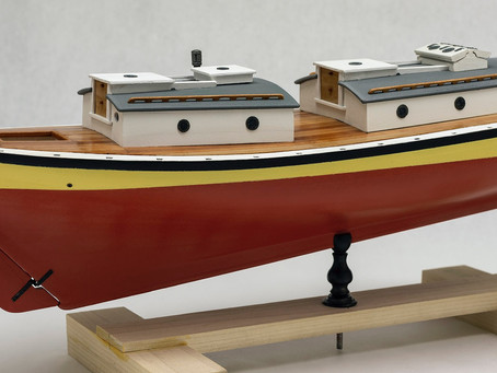 Model Shipways - Pinky schooner GLAD TIDINGS (1937) - Part_2 [Фарбування корпусу/Painting hull]