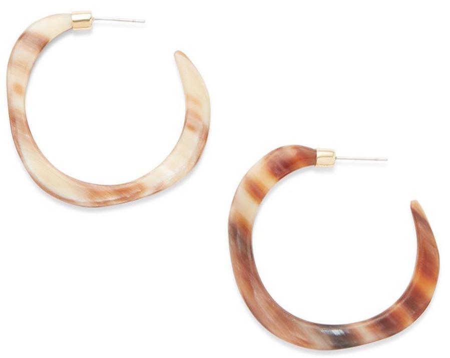 Pendo Organic Horn Hoop Earrings