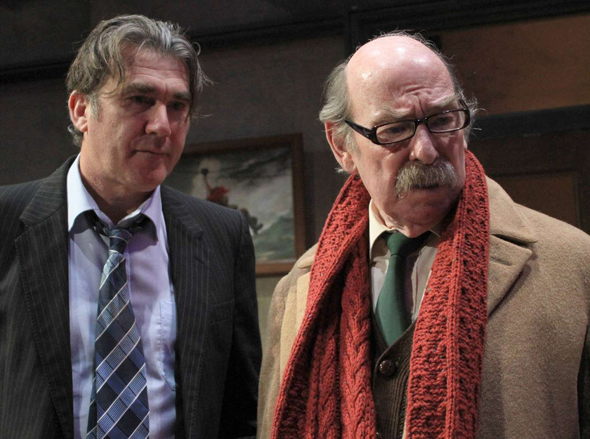 Galvin (Ian Kelsey) and Moe (Denis Lill) in Middle Ground's The Verdict