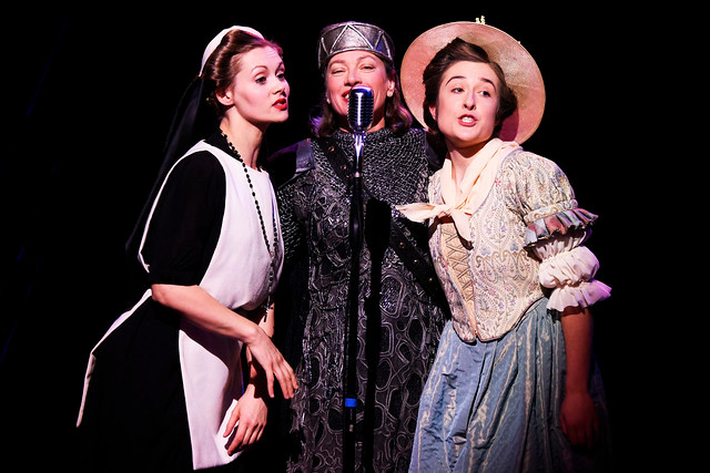 Sophia Hatfield (Margaret), Isobel Middleton (Beatrice) and Rachel Hammond (Ursula) in Northern Broadsides' Much Ado About Nothing. All pics: Nobby Clark