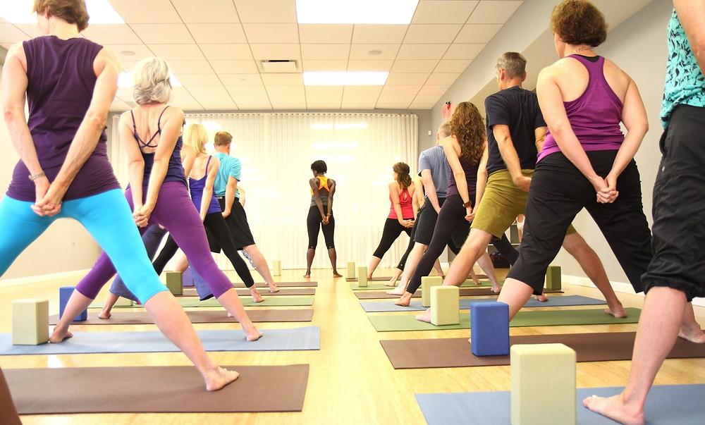 photo of Romy Toussaint yoga class