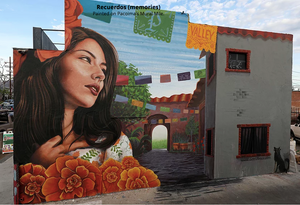 Recuerdos by Levi Ponce painted on Pacoima Miracle Mile