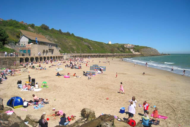 Sunny Sands beach in Folkestone - picture c/o Coast Radar