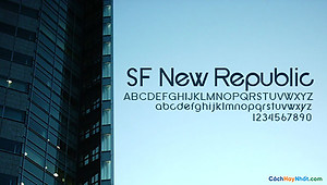 Font SF New Republic Free