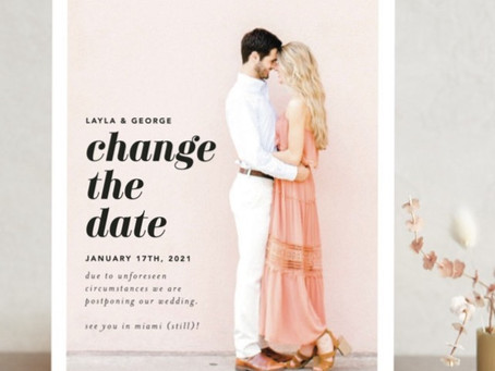 Question of the Week : How should we share our new wedding date with guests?