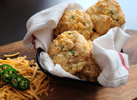 Keto Cheddar Jalapeno Biscuits Recipe