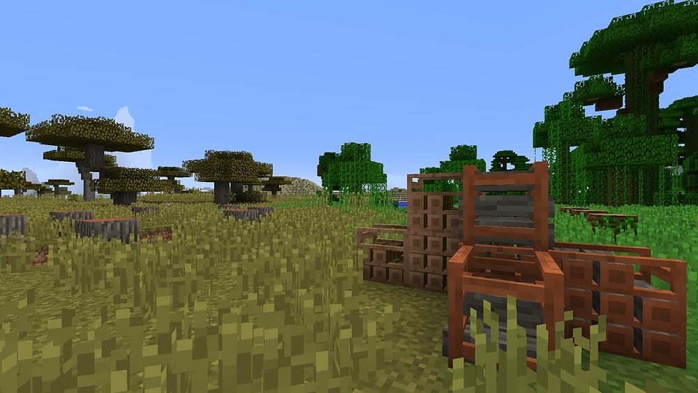 More Blox Minecraft mod Woodpiles