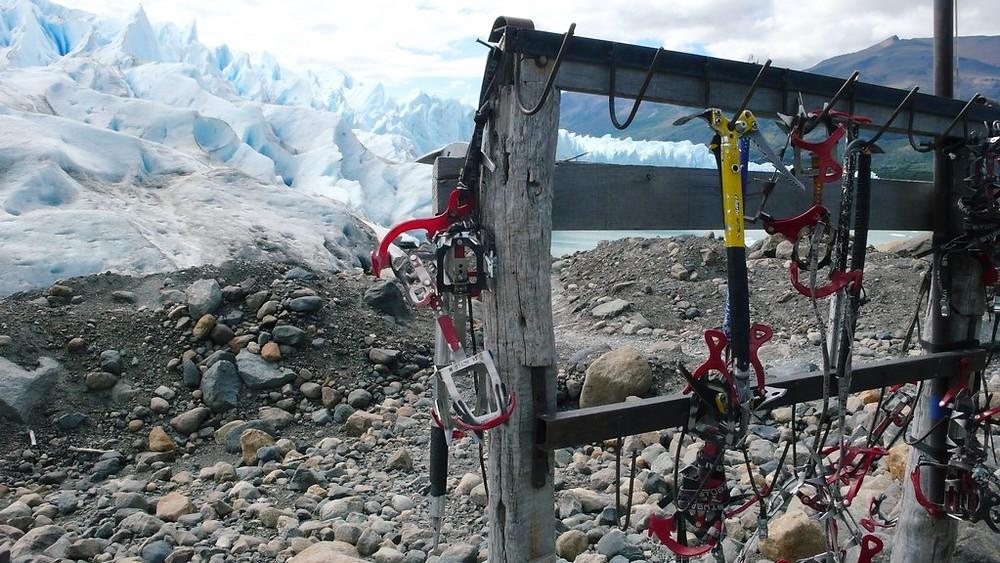 Marche sur glace Perito moreno Argentine