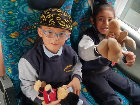 Senior Infants enjoying a Teddy Bears' Picnic today at Turlough House