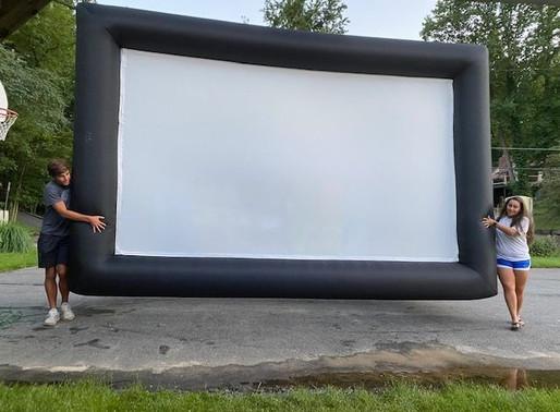 Camping & a Movie-What Fun!
