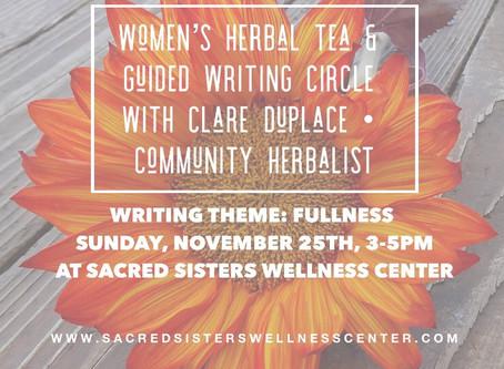 Women's Herbal Tea & Guided Writing Circle