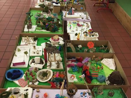 Rund 70 Kinder bauen am 26.11.19 ihren Traumpausenhof