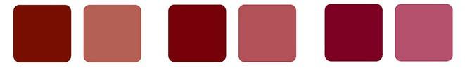 Shades eli sävyt ovat syvän tai tumman värisiä, sillä niihin on lisätty mustaa.