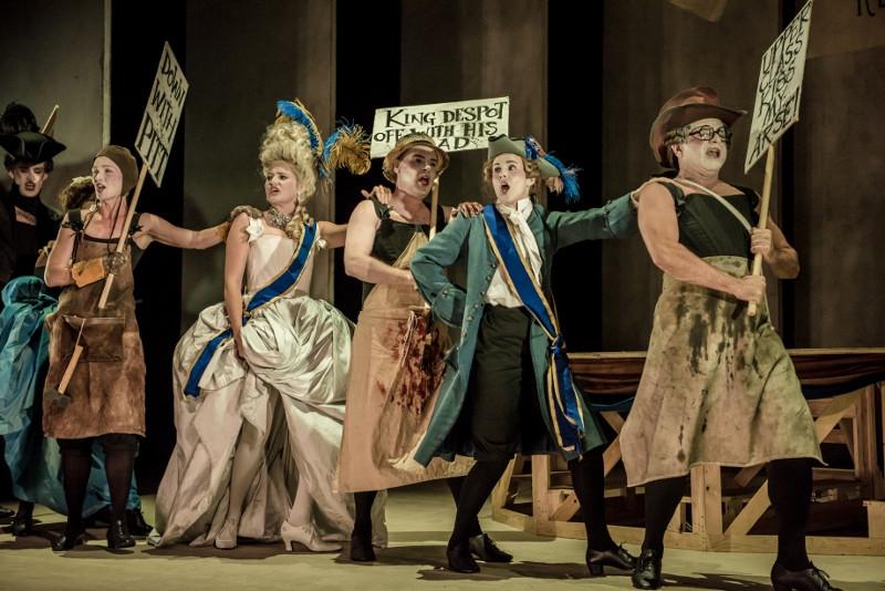 Rhys Alun Thomas, Samantha Clarke, Katherine Aitken and Aled Hall in Buxton International FEstival's production of Georgiana. c. Genevieve Girling