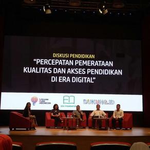 """Catatan dari Diskusi Pendidikan, Percepatan Pemerataan Kualitas dan Akses Pendidikan di Era Digital"""""""