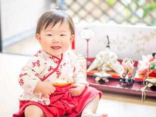 子どもと家族の写真(広島県三原市)