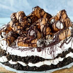 עוגת פאדג' פרג, שוקולד וקרם גבינה