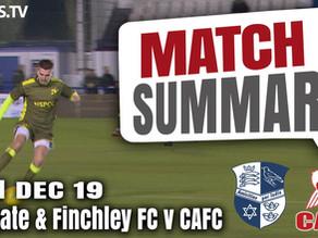 Match summary - Wingate & Finchley