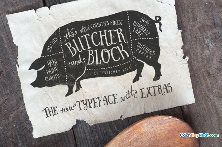 Font Chữ iciel Butcher and Block 2014 Việt hóa