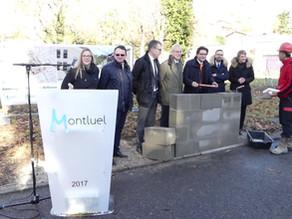Pose de la 1ère pierre du nouveau quartier Bellevue à Montluel.