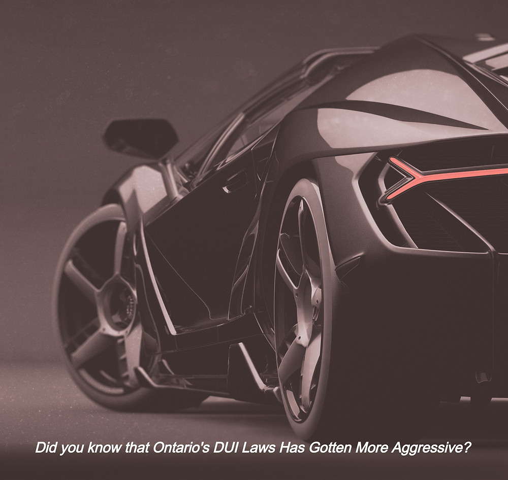 Fast Car image stating that Ontario's DUI laws are more aggressive