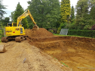 Development of Tanglewood pool excavations