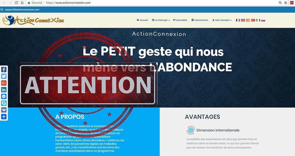 Action Connexion AVIS
