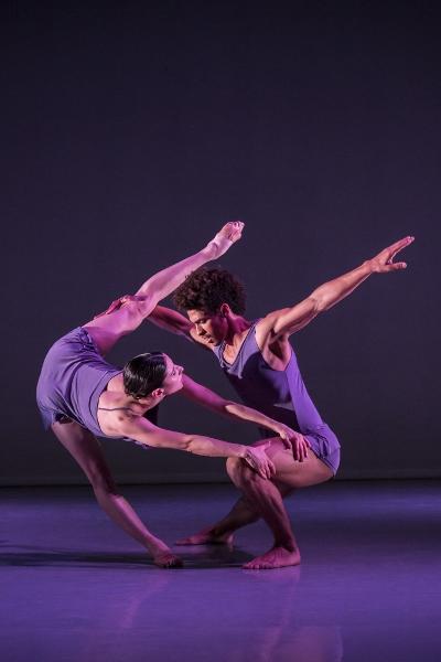 Rambert dancers in PreSentient, by Wayne McGregor. credit Johan Persson