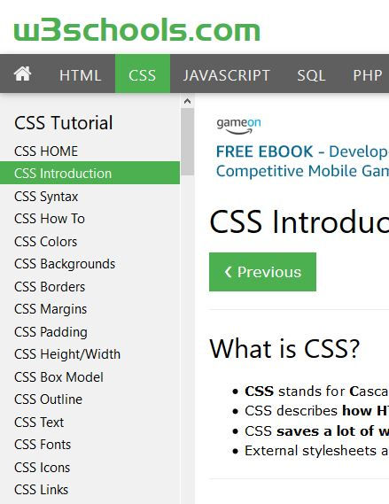 Css w3schools html download free and ebook