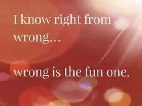 I know right from wrong. Wrong is the fun one Meme & Many More Hilarious Memes