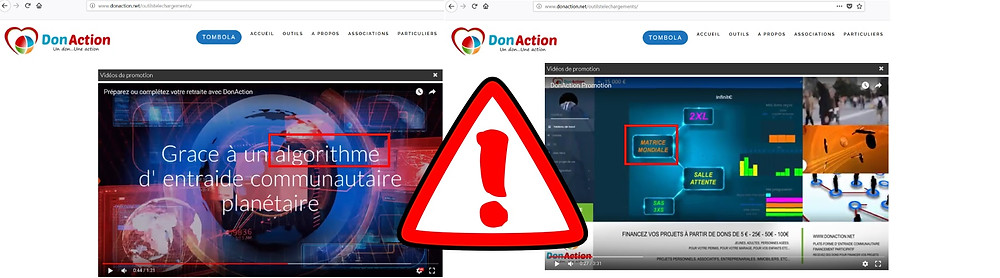 DONACTION escroquerie